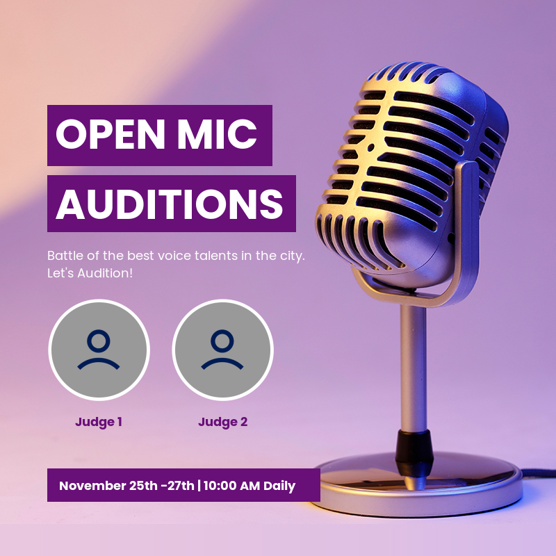 Open mic auditions