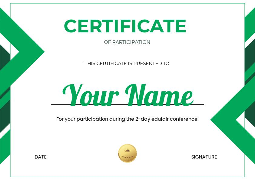 Certificate of Participation Design